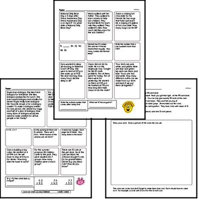 Fourth Grade Word Problems Challenge Book