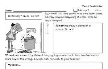 Fourth Grade Back to School Activity Book #2