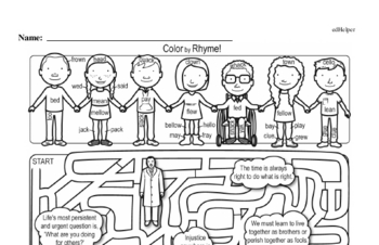 Fourth Grade Martin Luther King, Jr. Activity Book