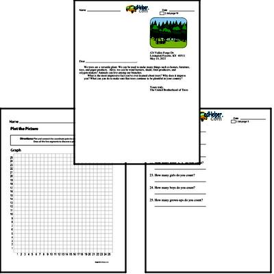4th grade: Earth Day and Caring for Earth Math Challenge Workbook