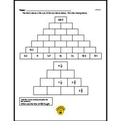 Free Fifth Grade Addition PDF Worksheets Worksheet #3