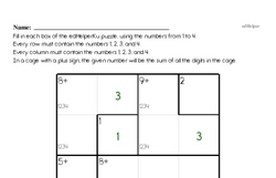 Addition Math Logic Puzzle