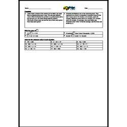 1st Quarter Math Assessment for Fifth Grade - Few Mixed Review Math Problem Pages
