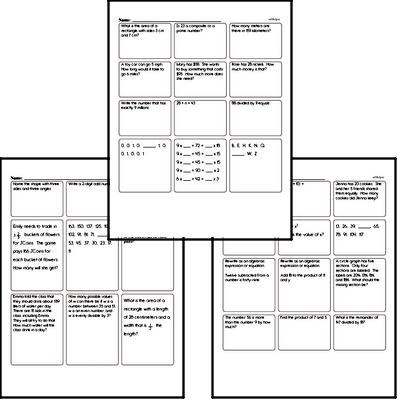 End of the Year Fifth Grade Math Assessments