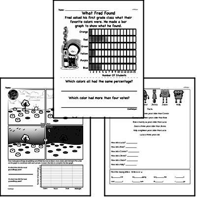 Data - Data Word Problems Workbook (all teacher worksheets - large PDF)