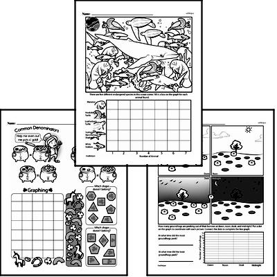Data - Graphing Mixed Math PDF Workbook for Fifth Graders