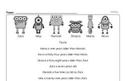 Free Fifth Grade Data PDF Worksheets Worksheet #1