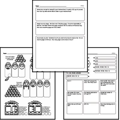 Division Mixed Math PDF Workbook for Fifth Graders