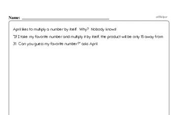 Easy Math Minute Enrichment Pages