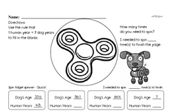 Fun Multiples of 7 Enrichment Page with Decimals