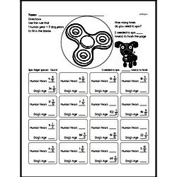 Fun Multiples of 7 Enrichment Page with Fractions