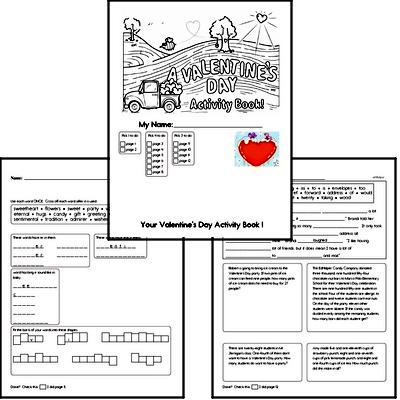 Fifth Grade Valentine's Day Worksheets Activity Book