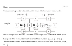 Adding and Subtracting Fractions Enrichment Challenge Math Puzzle (easier)