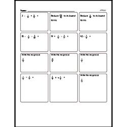 Fraction Mad Minute Pages