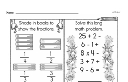 Free Fraction PDF Math Worksheets Worksheet #17