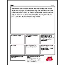 Free Fraction PDF Math Worksheets Worksheet #50
