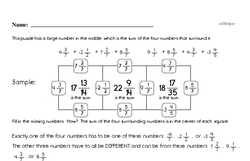 Free Fifth Grade Fractions PDF Worksheets Worksheet #21