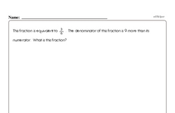 Free Fraction PDF Math Worksheets Worksheet #62