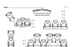 Free Fraction PDF Math Worksheets Worksheet #245