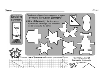 Geometry Mixed Math PDF Workbook for Fifth Graders