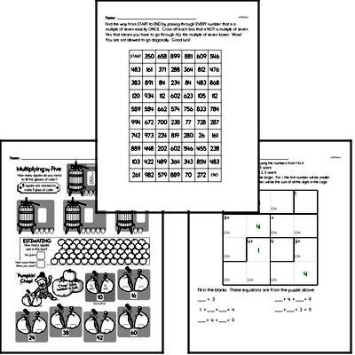 Math Challenges - Puzzles and Brain Teasers Mixed Math PDF Workbook for Fifth Graders