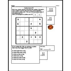 Sum Practice with Sudoku Logic Puzzle Book