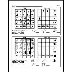 Free Fifth Grade Math Challenges PDF Worksheets Worksheet #4