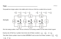Free Fifth Grade Math Challenges PDF Worksheets Worksheet #10