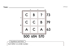 Free Fifth Grade Math Challenges PDF Worksheets Worksheet #13
