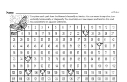 Free Fifth Grade Math Challenges PDF Worksheets Worksheet #30