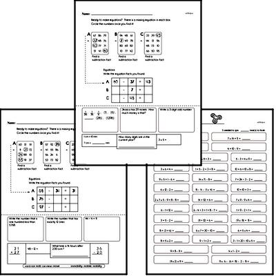 Math Facts Practice Mixed Math PDF Workbook for Fifth Graders