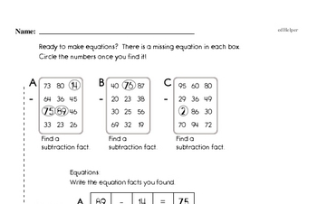 Math Facts Practice Workbook (all teacher worksheets - large PDF)