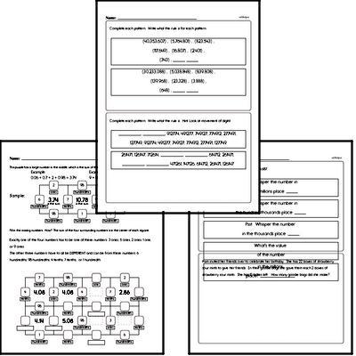 free fifth grade math minutes pdf worksheets. Black Bedroom Furniture Sets. Home Design Ideas