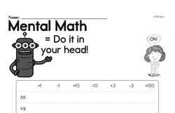 Mental Math Challenge Worksheet