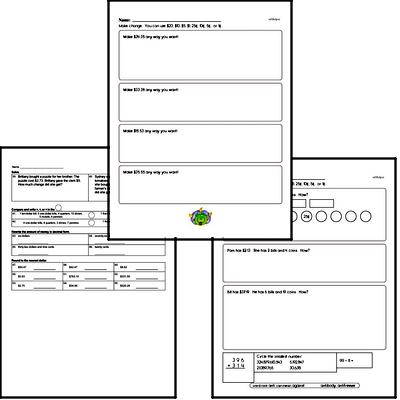 Free Fifth Grade Money Math PDF Worksheets | edHelper.com