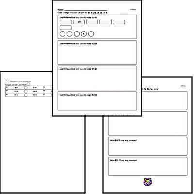 Free Fifth Grade Money Math PDF Worksheets | edHelper com
