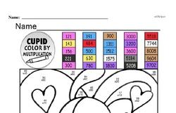 Free Fifth Grade Multiplication PDF Worksheets Worksheet #21