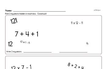 Free Order of Operations PDF Math Worksheets | edHelper com