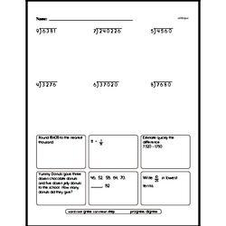 Free Fifth Grade Number Sense PDF Worksheets Worksheet #4