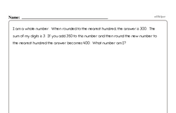 Free Fifth Grade Number Sense PDF Worksheets Worksheet #5