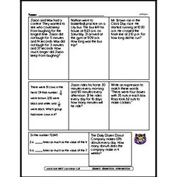 Free Fifth Grade Number Sense PDF Worksheets Worksheet #16