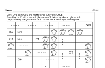 Patterns - Number Patterns Mixed Math PDF Workbook for Fifth Graders