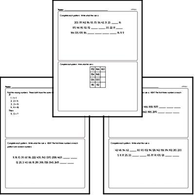 More Difficult Pattern and Number Sequence Challenge Workbook