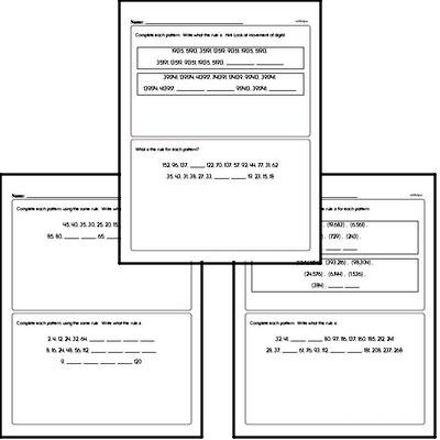 Pattern and Number Sequence Challenge Workbook