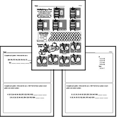 Patterns Mixed Math PDF Workbook for Fifth Graders