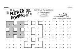 Pattern Worksheets - Free Printable Math PDFs Worksheet #77