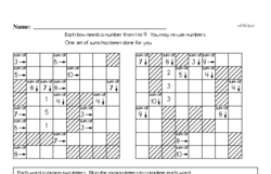 Free Fifth Grade Patterns PDF Worksheets Worksheet #2