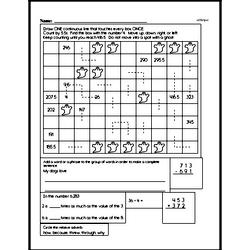Free Fifth Grade Patterns PDF Worksheets Worksheet #3