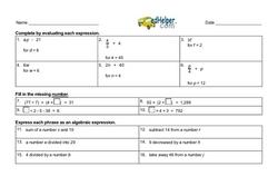 Fifth Grade Prealgebra Worksheets | edHelper.com