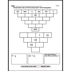 Challenging Pyramid Puzzle Problem Worksheet with Decimals and Fractions